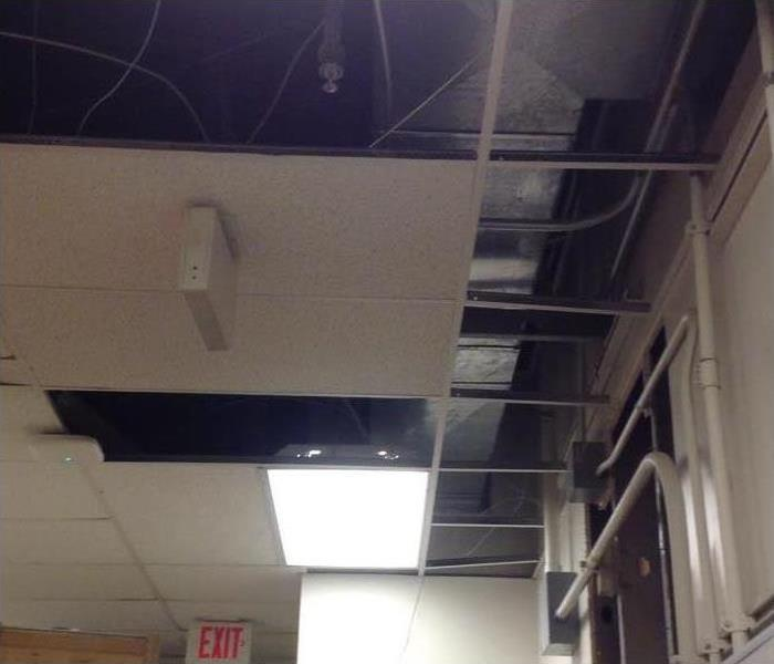 Commercial Ceiling After Storm